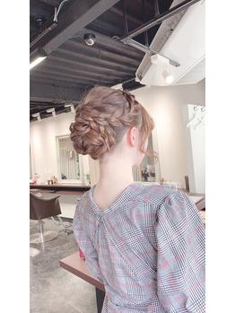 編み込みヘアセット2